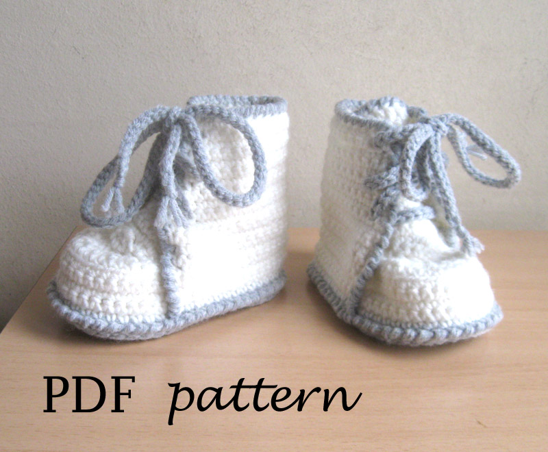 Pdf Crochet Pattern Booties Toddler Sizes P0034 On Luulla