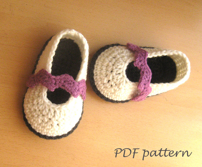 PDF Crochet PATTERN - Chevron Baby Shoes Crochet Booties Pattern ...