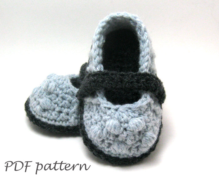 Pdf Crochet Pattern Lilly Mary Jane Slippers Crochet Baby Shoes